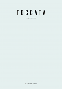 Ivan Carames Bohigas - Toccata para piano solo - Portada